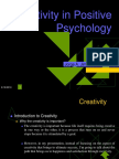 Creativity in Psychology.