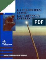 la filosofia como experiencia intelectual