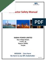 Contractor_Safety_Manual - NPL Rajpura