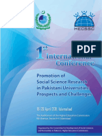 Program Book of 1st International  Conference on 'Social Science Research in Pakistani Universities