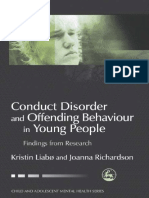 Conduct disorder ans offending behavior in young people