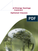 Shared Energy Savings Contract Supplementary Clauses