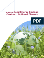 Guaranteed Energy Savings Contract Supplementary Clauses