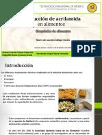 Producción de Acrilamidas en Alimentos