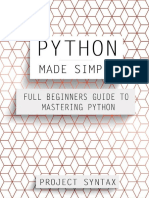 Python Made Simple_ Full Beginner's Guide to Mastering Python - Project Syntax