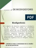 "Diseño de Biodigestores  ""DEAE"""