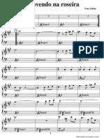 Partitura - Chovendo Na Roseira (Tom Jobim)