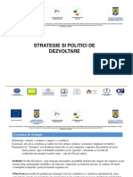 Strategie si politici de dezvoltare