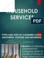 Lesson 1 Use and Maintenance of Cleaning Tools, Materials, And Equipment