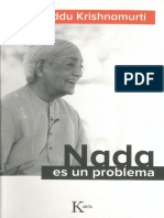 Nada Es Un Problema - Jiddu Krishnamurti