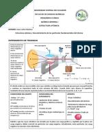 Estructura atómica- Descubrimiento de las partículas fundamentales del átomo