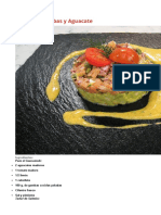 Timbal de Aguacate y Salmon