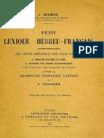 Marie, Lexique hébreu - français (Gabalda, 1931)