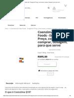 Coenzima q10 - Emagrece_ Preço, Como Tomar, Comprar, Dosagem, Para Que Serve