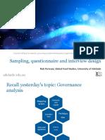 10 Sampling Questionnaire Interview Design Rp