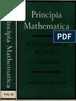 Whitehead a. N., Russell B. - Principia Mathematica. Volume III (1963)