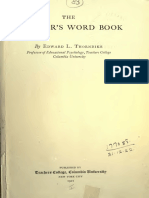 Thorndike 1921 Teachers Wordbook