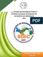 Anuario de Estadísticas Criminales de Panama 2014