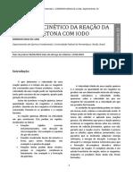 Experimento 10 – Estudo cinético da reação da acetona com iodo..