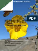 Biodiversidad de Flora y Fauna en las Lomas de Tacahuay, Tacna - Perú 2017