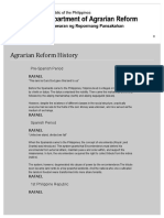 Agrarian Reform History Department of Agrarian Reform