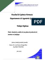 Simulación y Análisis de Una Planta de Producción de Amoniaco