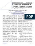 Parametric and Quantitative Analysis on the Development of Shell and Tube Heat Exchanger