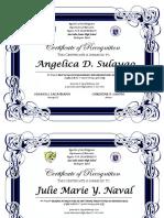 Certificate Best