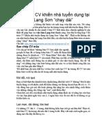 5 Lỗi Trên CV Khiến Nhà Tuyển Dụng Tại Lạng Sơn