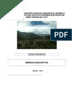 Estudio de Redes Ditribucion Electrica en 33 KV