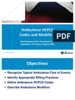 Ambulance HCPCS Codes Modifiers