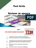 Test7 Isteme de Operare