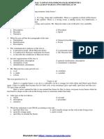 Soal Latihan 1 UAS-PAS B. Inggris 10 Smtr 1