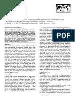 Liaohe Extra-Heavy Crude Oil Underground Aquathermolytic Treatments Using