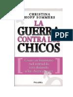Hoff Sommers Christina - La Guerra Contra Los Chicos.docx
