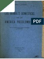 Los Animales Domesticos de La America Precolombina