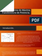 Teorema de Máxima Transferencia de Potencia