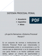 1a Clase de Derecho Procesal Penal Sistema Procesal Penal