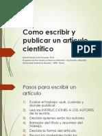 Como Escribir y Publicar Articulos Cientificos Humanidades