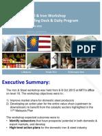 Iron & Steel Workshop_summary Report_20151013_v3.2