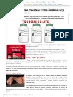 Dilatex - Para Que Serve, Como Tomar, Efeitos Colaterais e PREÇO