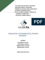Poblacion y Economia en El Pasado Indigena venezolano