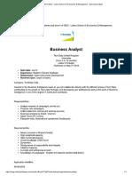 Tech Data Business Analyst