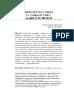 JURISDIÇÃO C ONSTITUCIONAL E A Q UESTÃO DO A BORTO A PARTIR DO HC 124.306/RJ