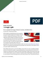 A Tragic Split _ the Economist