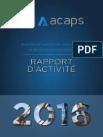 Rapport d'activité ACAPS 2016
