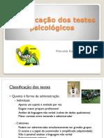 Classificacao Dos Testes Psicologicos