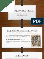 Matrimonio en La Antigua Roma