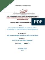 Interpreta Los Procedimientos Del Método de Análisis Porcentual de Los Estados Financieros en Caso Propuestos