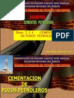 Tema 2, 3, 4_Cementacion de Pozos de Petroleo y Gas